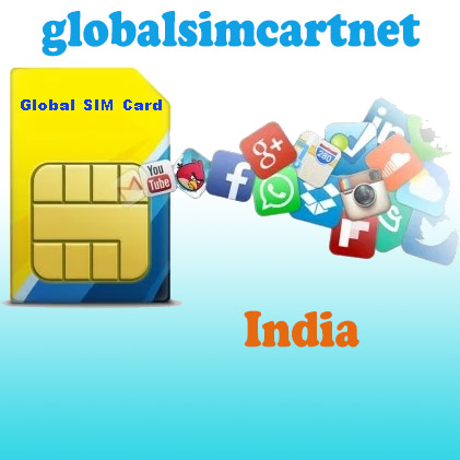 GSC-IN: India TRAVELLING INTERNET 4G/LTE GLOBAL SIM CARD 1-4GB/ 7-30 DAYS