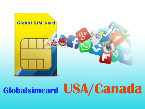GSC-USCA: USA&Canada Travelling Internet LTE Global SIM Card 1-4GB/7-30 Days